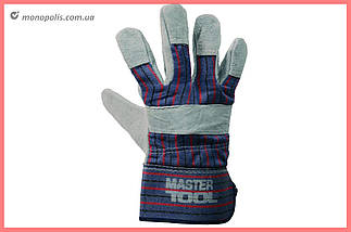 """Перчатки Mastertool - замшевые комбинированные, цельная ладонь 10,5"""", фото 3"""