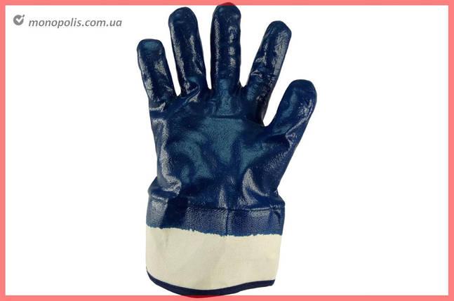 """Перчатки Сила - масло-бензостойкие с твердым манжетом 10"""", фото 2"""