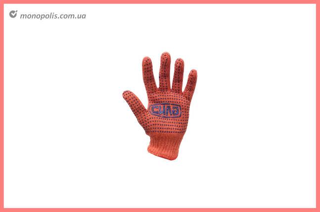"""Перчатки Сила - х/б с точкой 50 г оранжевые 10"""", фото 2"""