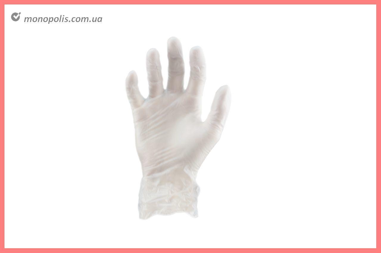 Перчатки Алиско - медицинские (белые) (M) (в пачке 100 перчаток)