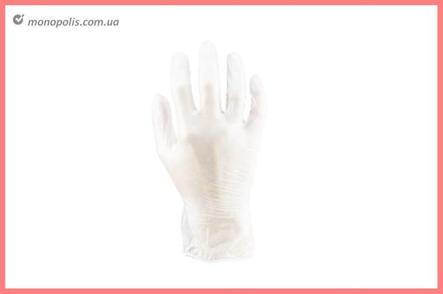Перчатки Алиско - медицинские (белые) (M) (в пачке 100 перчаток), фото 2