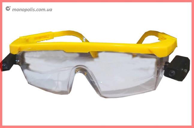 Очки защитные Mastertool - LED поликарбонатное стекло, фото 2