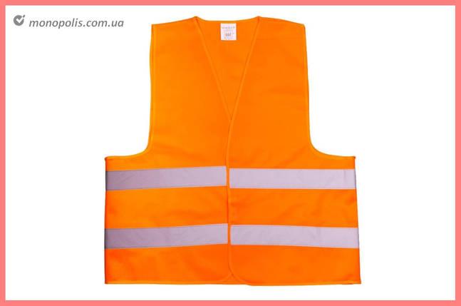 Жилет светоотражающий Vita - 4XL оранжевый 120 г/м², фото 2
