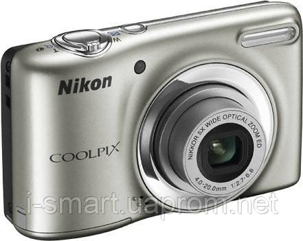 Фотокамера Nikon COOLPIX L25 (серебро, черный, белый)