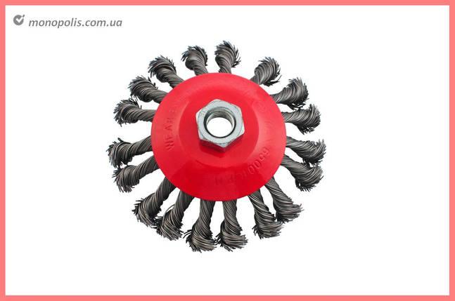 Щетка конусная Intertool - 115 мм, плетеная, фото 2