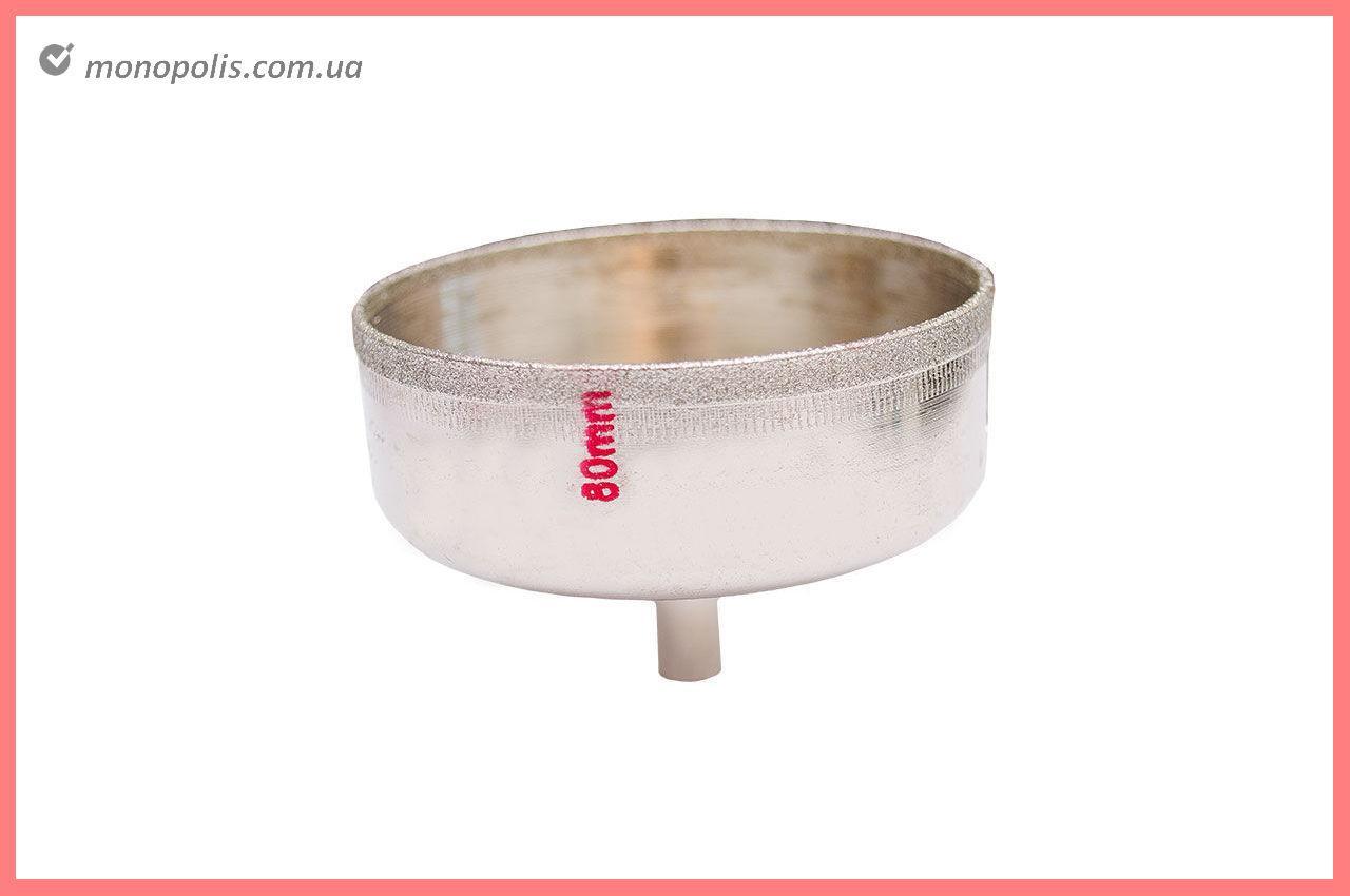Сверло трубчатое по стеклу и керамике Intertool - 80 мм