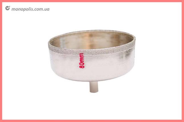Сверло трубчатое по стеклу и керамике Intertool - 80 мм, фото 2
