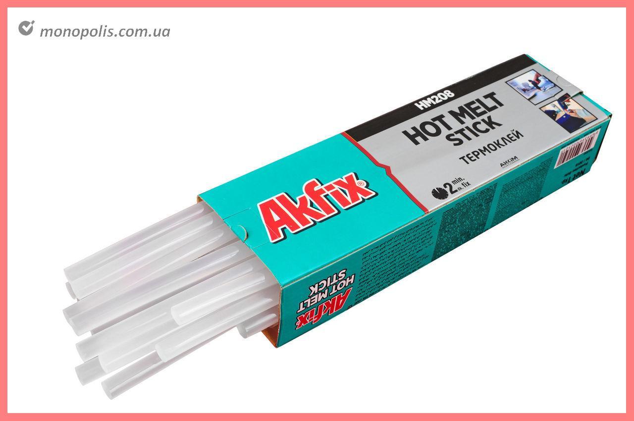 Клеевые стержни Akfix - 11,2 х 300 мм, прозрачные (1 кг)