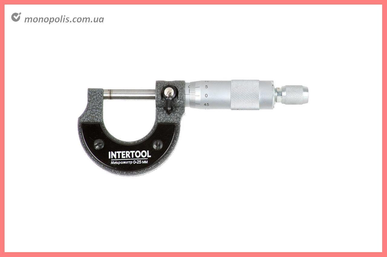 Микрометр Intertool - 0 x 25 мм, 0,01 мм