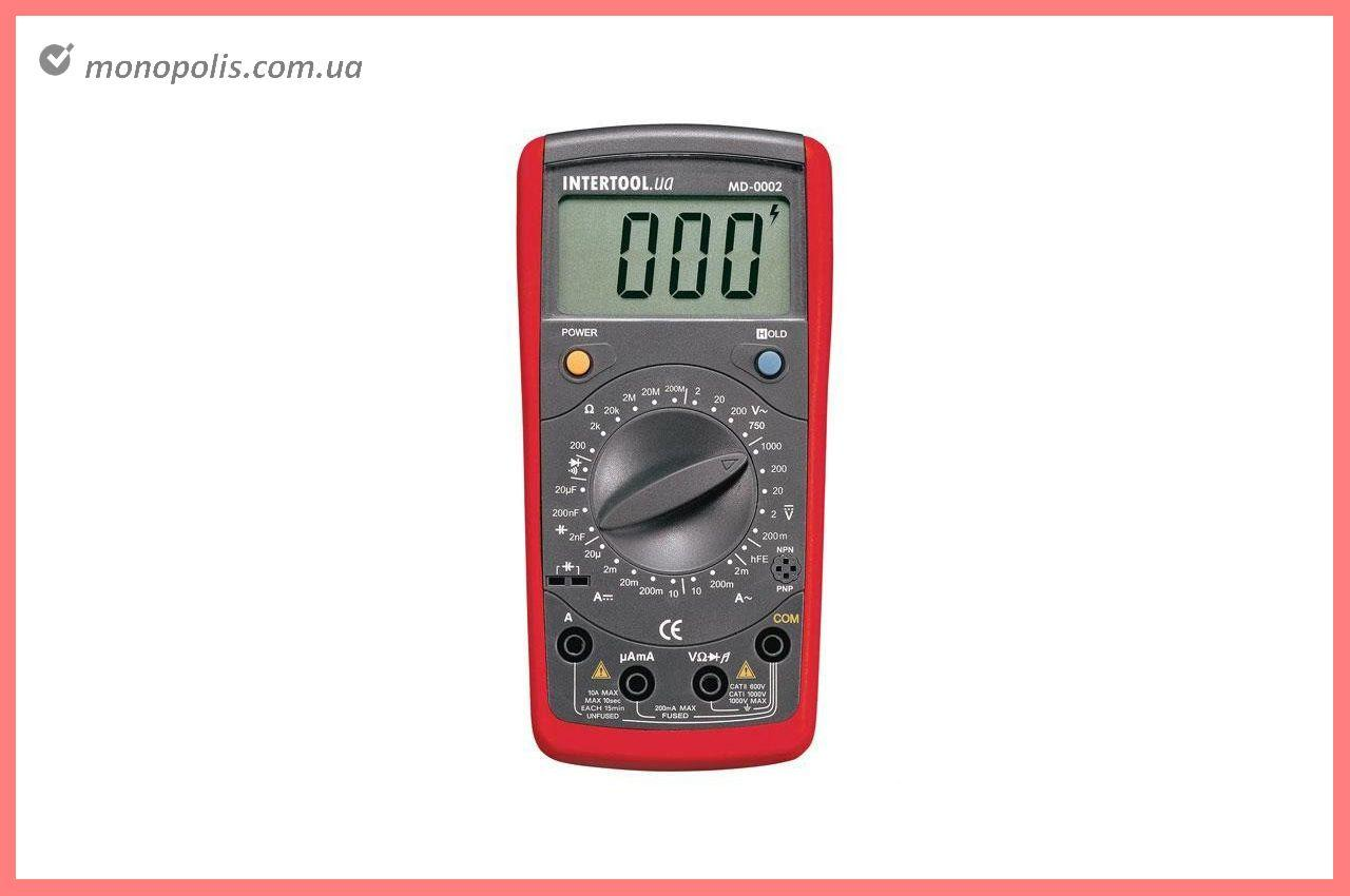 Мультиметр цифровой Intertool - CAT III-600В x CAT II-1000В