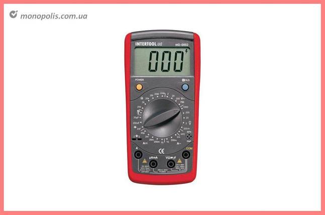 Мультиметр цифровой Intertool - CAT III-600В x CAT II-1000В, фото 2