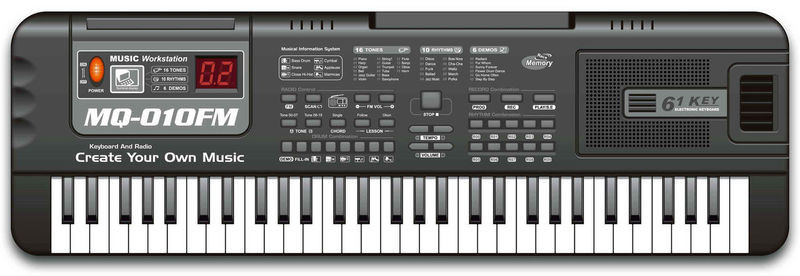 Орган від мережі, мікрофоном MQ-010FM (61 клавіша)