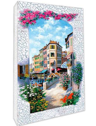 """Декупаж на полотне Пейзаж """"Венеция"""" 20*40 см 94671, фото 2"""