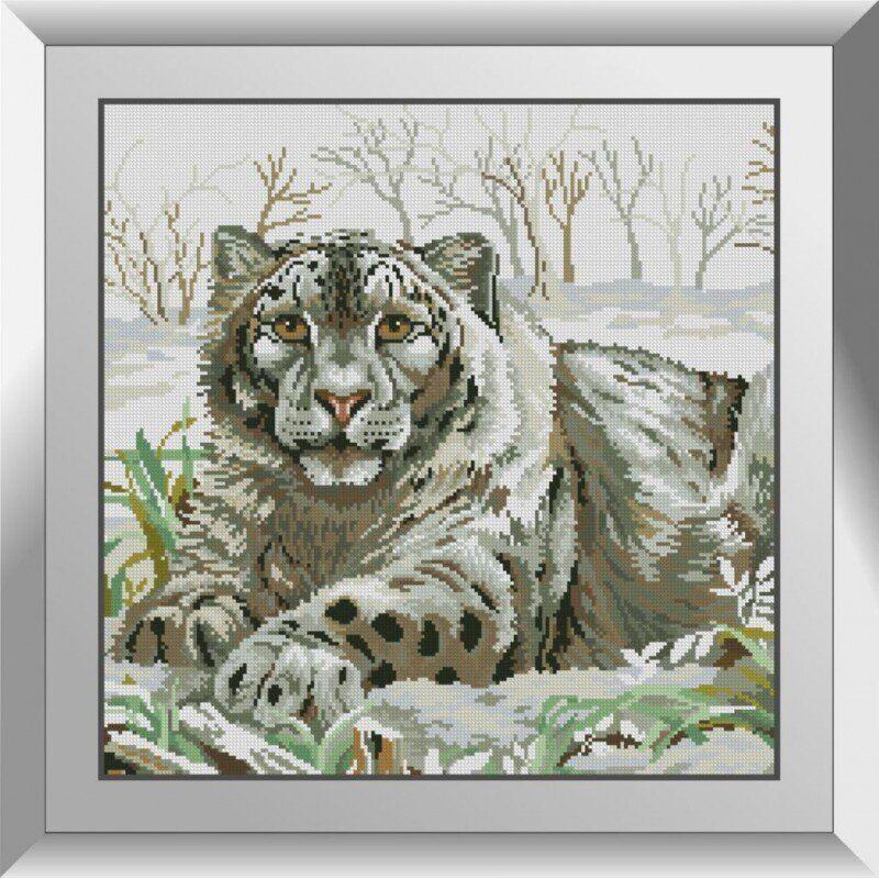 31360 Снежный барс Набор алмазной живописи