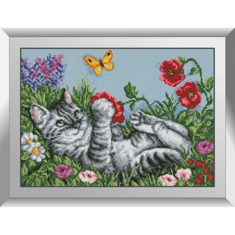 31402 Игривый котик Набор алмазной живописи