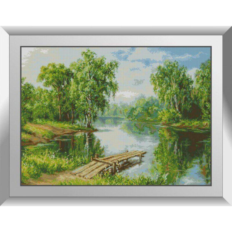 31415 Березы на реке Набор алмазной живописи