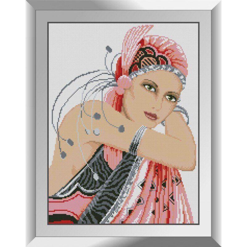31419 Дама в розовом Набор алмазной живописи