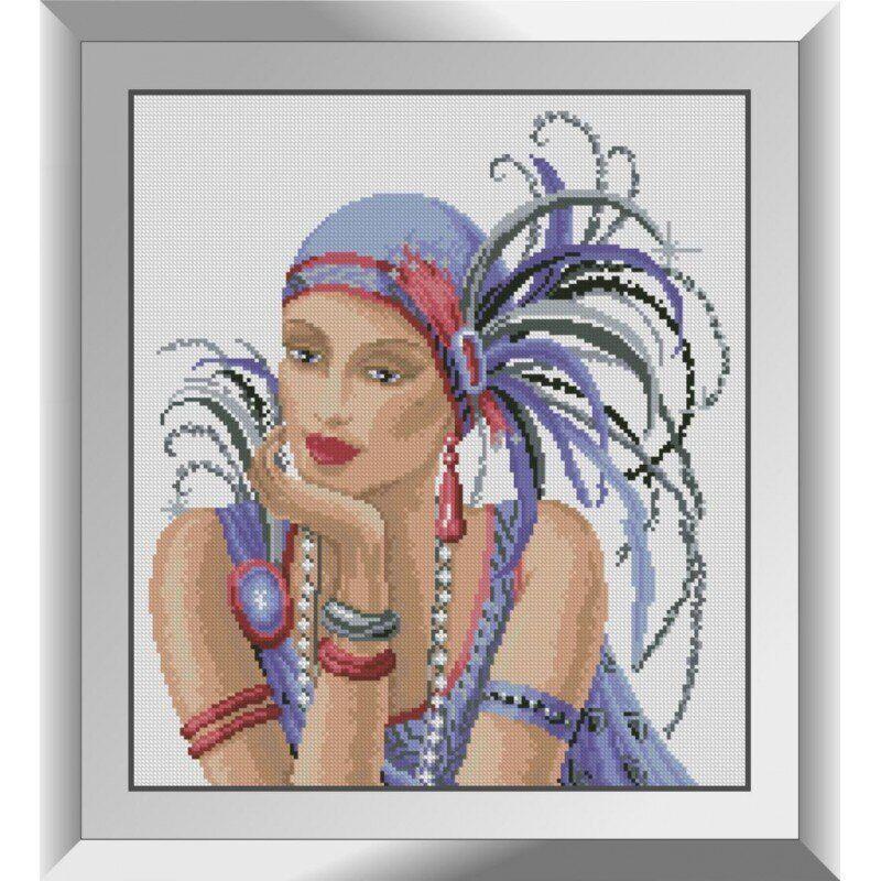 31420 Дама в фиолетовом Набор алмазной живописи
