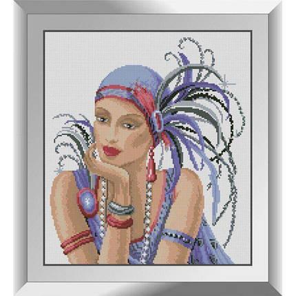 31420 Дама в фиолетовом Набор алмазной живописи, фото 2