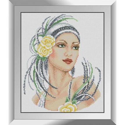 31422 Леди в желтом Набор алмазной живописи, фото 2