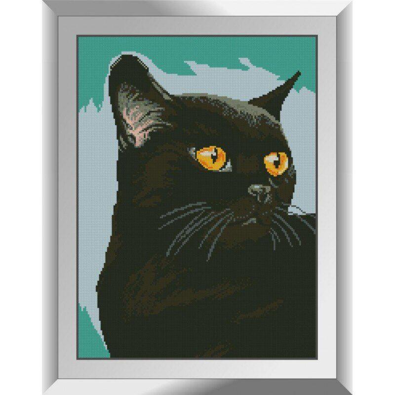 31428 Черный кот Набор алмазной живописи