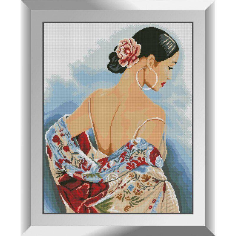31463 Цветной шарф Набор алмазной живописи