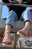 Босоножки женские бежевые AAA 275, фото 1