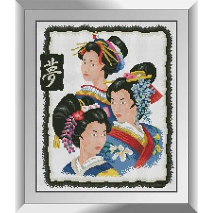 31486 Гейши Набор алмазной живописи, фото 2