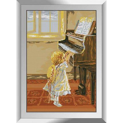 31498 Маленькая пианистка Набор алмазной живописи, фото 2