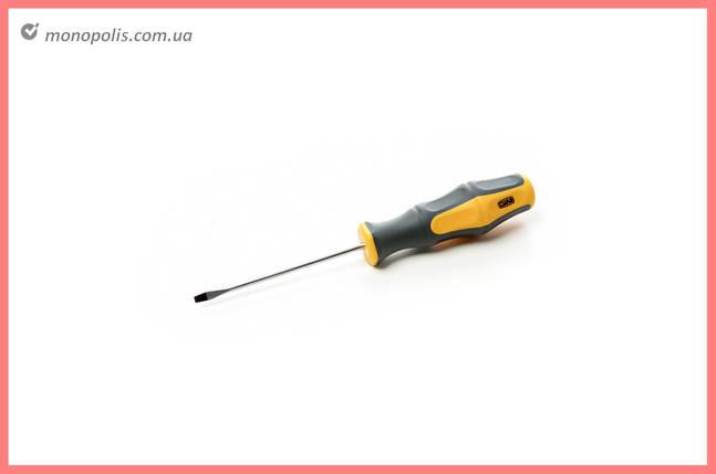 Отвертка Сила - шлицевая SL3 x 38 мм, обрезиненная, фото 2