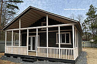 Дачный домик 8м х 8м с террассой 8м х 2,5м., фото 1