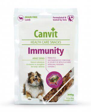 Лакомство для собак Canvit Immunity для укрепления иммунитета взрослых собак, 200 г, Заводская упаковка, Ягненок