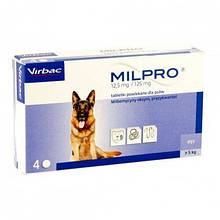 Антигельминтные таблетки Virbac Milpro для собак 5-25 кг, 1 шт.