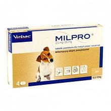 Антигельминтные таблетки Virbac Milpro для щенков и малых пород собак 0,5-10 кг, 1 шт.