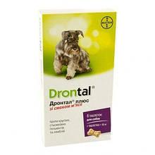 Антигельминтик Drontal plus для собак со вкусом мяса, 1 шт., Поштучно
