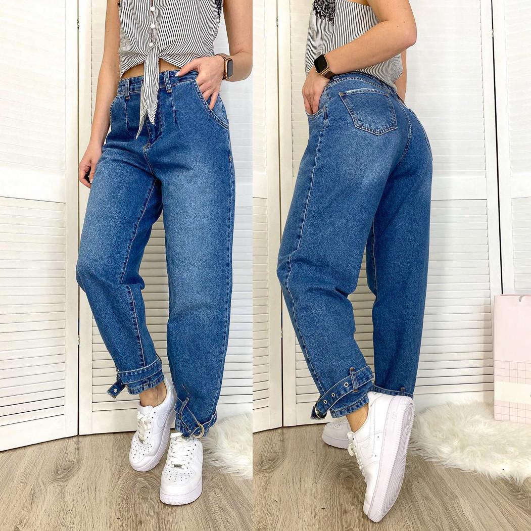 4467-01 Zeo Basic джинсы-баллон синие весенние коттоновые (34-40,евро, 5 ед.)