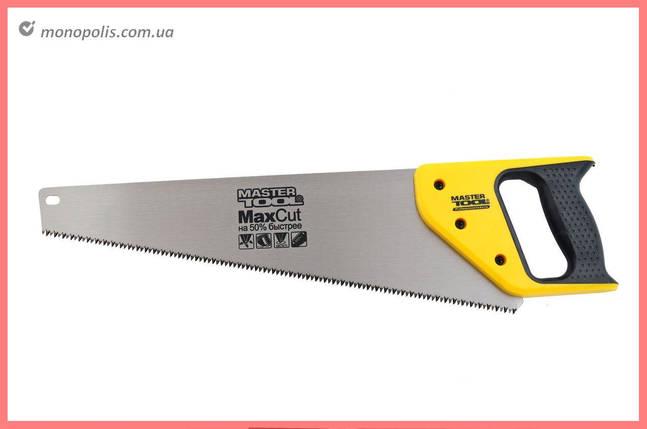 "Ножовка по дереву Mastertool - 450 мм, 7T х 1"", тройная заточка, фото 2"