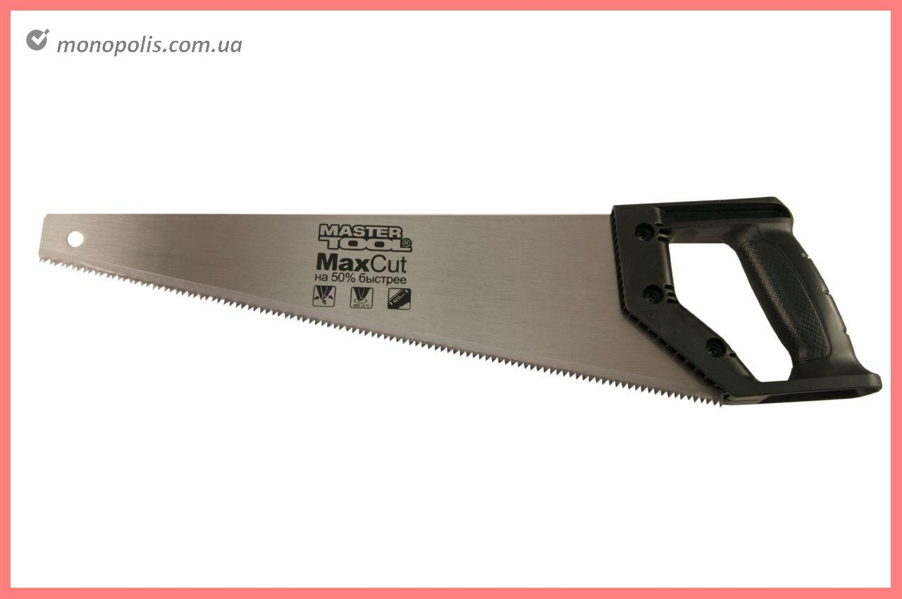 """Ножовка по дереву Mastertool - 450 мм x 7T x 1"""" x 3D, черная ручка"""