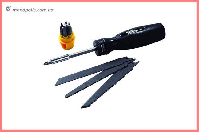 Ножовка по дереву отвертка Mastertool - 140 мм (3 шт.), 4-в-1 (7 шт.), фото 2