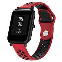 Ремешок BeWatch sport-style для смарт-часов Xiaomi Amazfit BIP Красно-Черный (1010131)