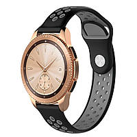 Ремешок BeWatch для смарт-часов Samsung Galaxy Watch 42 мм Black/Gray (1010114.2)