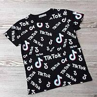 Стильная футболка для девочек Tik Tok Размеры 116 - 134 топ продаж