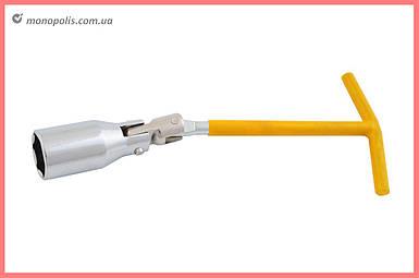 Ключ свечной Т-образный с шарниром Intertool - 21 мм
