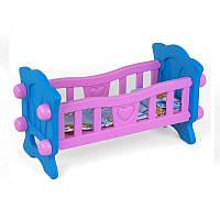 Кроватка для куклы ТехноК розовая SKL11-180452