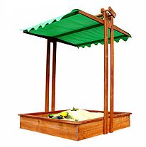 Песочница с крышкой SportBaby деревянная (бук) / Детские песочницы, фото 3