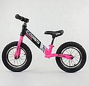 """Велобіг від 88621 сталева рама колеса 12"""" надувні рожевий, фото 2"""