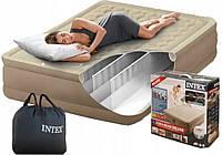 Надувная кровать двухспальная с встроенным насосом 203*152*46 см Intex 64428