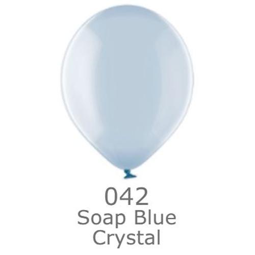 """Шар воздушный BELBAL кристалл 042 Леденец синий Вubble blue 12""""(30см)"""