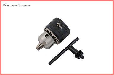 Патрон для дрели с ключом Intertool - M12 х 1.25, 1.5-13 мм