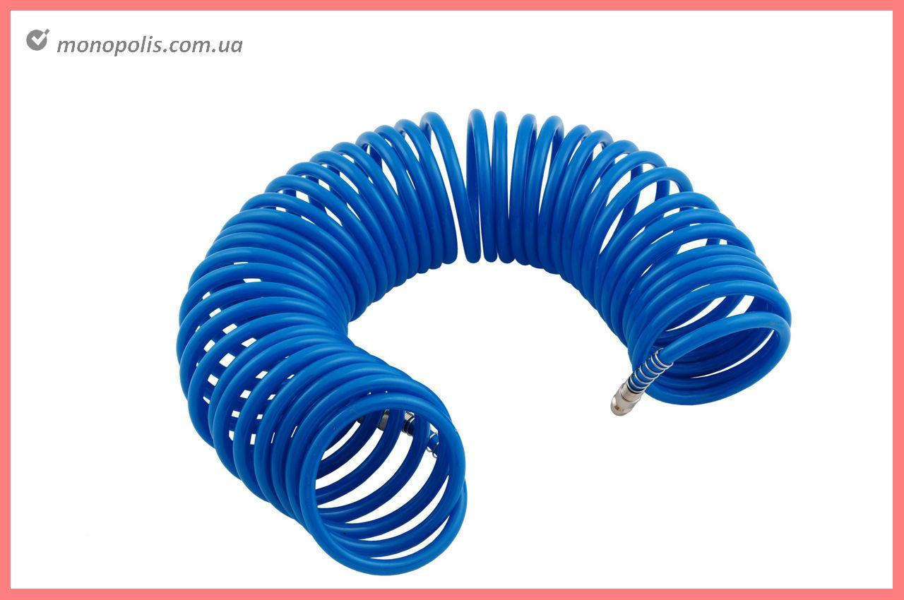 Шланг спиральный Housetools - 10 м, 5,5 х 8 мм, полиуретановый